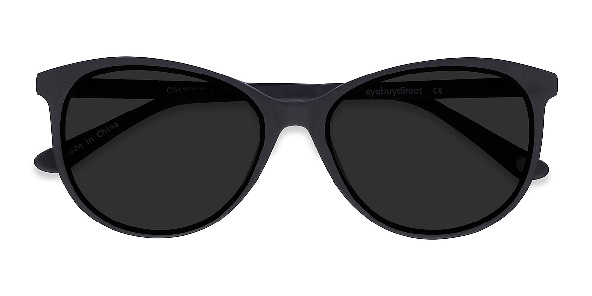 Female's Horn Black Acetate Prescription sunglasses - EyeBuydirect's Calypso