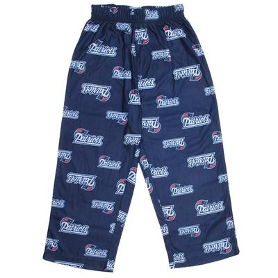 New England Patriots Preschool Allover Logo Printed Pants - Navy Blue