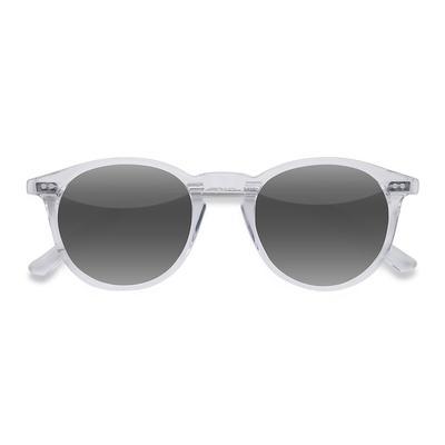Unisex Round Clear Acetate Prescription sunglasses - EyeBuydirect's Sun Kyoto