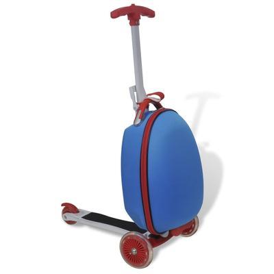 vidaXL Trottinette avec sac rigide pour enfants Bleu