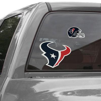 """Houston Texans Repositionable Logo Decal Set"""