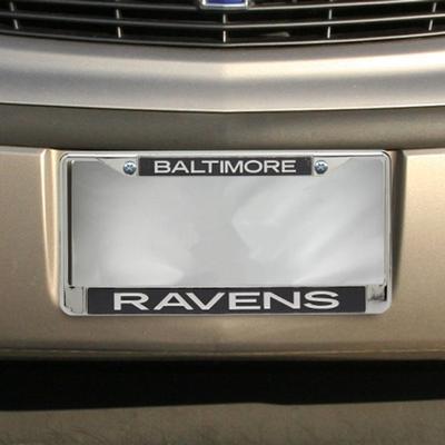 """Baltimore Ravens Team Silver Glitter Metal Frame - Black"""