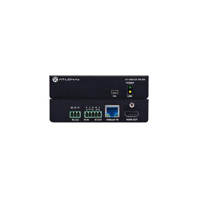 Atlona HDMI Over HDBaseT Receiver - Black - AT-UHD-EX-70C-RX