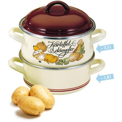Elo - Meine Küche Dampfgartopf, Emaille, (1 tlg.) braun Gemüsetöpfe Töpfe Haushaltswaren Dampfgartopf