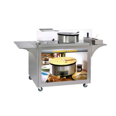 """Equipex MC-04 Mobile Crepe Cart - 32 1/2"""" x 39"""" x 24"""", Stainless"""