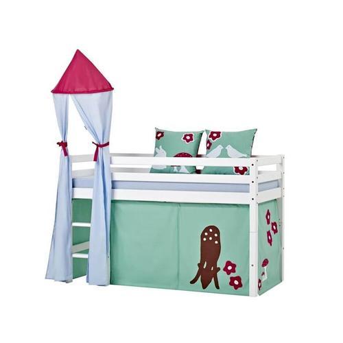 Hoppekids Basic Bett mit Leiter Halbhohes Bett mit Leiter 105 cm