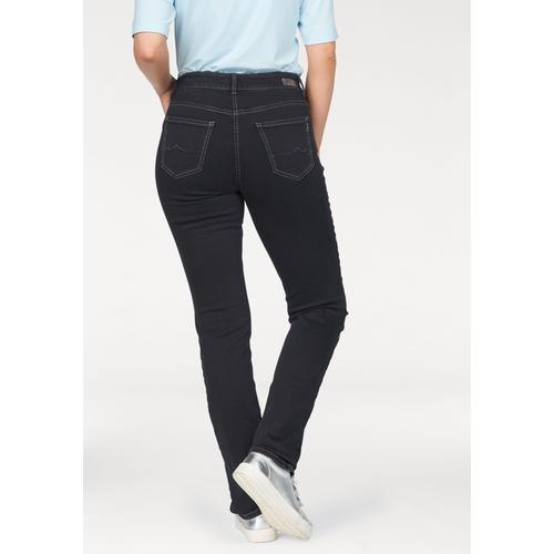MAC Stretch-Jeans Melanie, Gerade geschnitten blau Damen High-Waist-Jeans Jeans