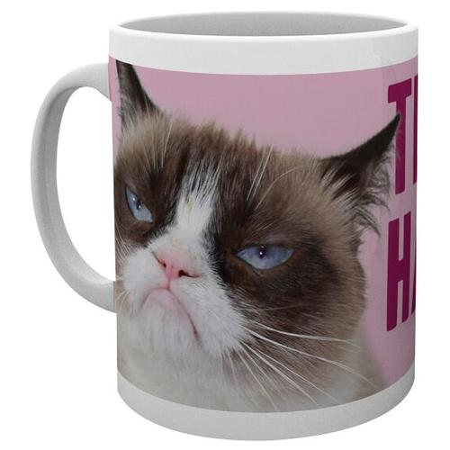 Grumpy Cat Happy Face Tasse - weiß