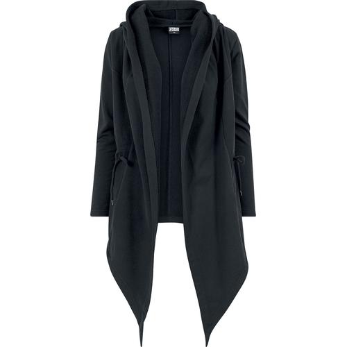 Urban Classics Ladies Hooded Sweat Cardigan Damen-Cardigan - schwarz