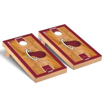 """Miami Heat 2' x 4' Court Museum Cornhole Board Set"""