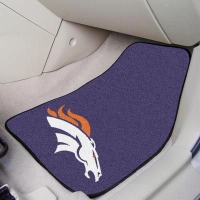 Denver Broncos 2-Piece Carpet Car Mat Set