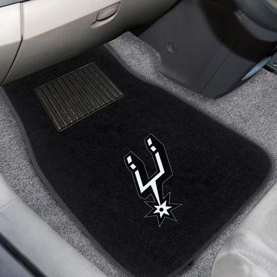 """San Antonio Spurs 2-Piece Embroidered Car Mat Set"""