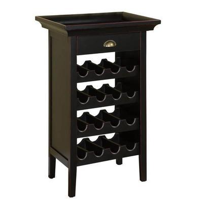 Powell Powell Black with Merlot Rub Wine Cabinet