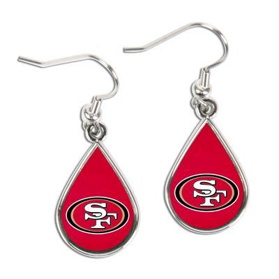 San Francisco 49ers WinCraft Tear Drop Dangle Earrings