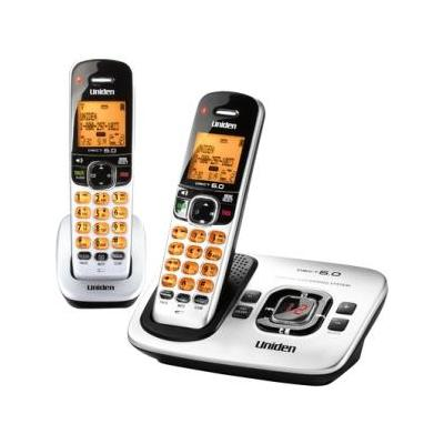 Uniden D1780-2 Silver Cordless Phone (DECT 6.0, Answering Machine, Caller ID)