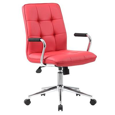 Boss Office Products Red Modern Task Chair with Arms
