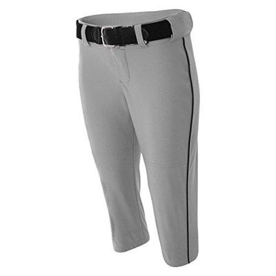 A4 A4 NW6188 Adult Softball Pant - Grey/ Black - S