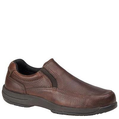 Walkabout Men's Slip-On Walking Shoe - 10 Brown Slip On D