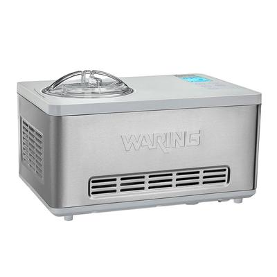Waring WCIC20 2 qt Electric Ice Cream Maker - Stainless, 120v