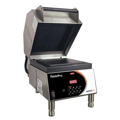 Nemco 6900-240-GF Single Commercial Panini Press w/ Aluminum Grooved & Smooth Plates, 240v/1ph