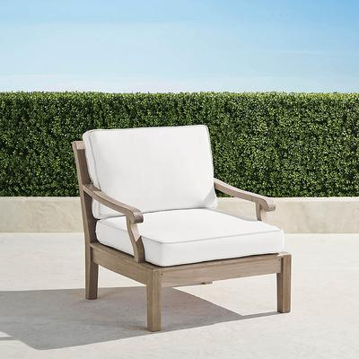 Cassara Lounge Chair with Cushions in Weathered Finish - Rain Indigo , Custom Sunbrella Rain, Special Order - Frontgate
