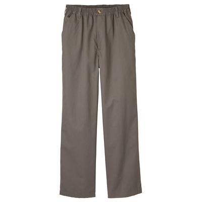Haband Big & Tall Mens Casual Joe Stretch-Waist Twill Pants, Grey, Size 34 S (27-28)