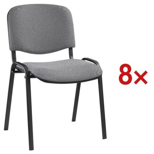 8er-Set Stapelstühle »ISO 4L« schwarzes Gestell schwarz, Nowy Styl, 47.5x45 cm