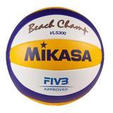 Mikasa Beachvolleyball in weiß/b...