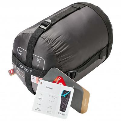 Cocoon - Overbag Ripstop Nylon & Primaloft - Kunstfaserschlafsack Gr 200 x 86 cm / 62 cm Espresso / Azure