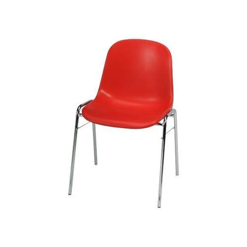 4er-Set Stapelstühle rot, Nowy Styl, 45x43 cm