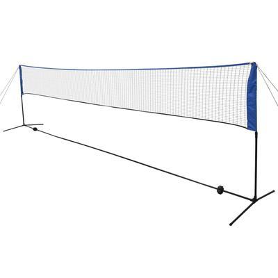 vidaXL Filet de badminton avec volants 600 x 155 cm