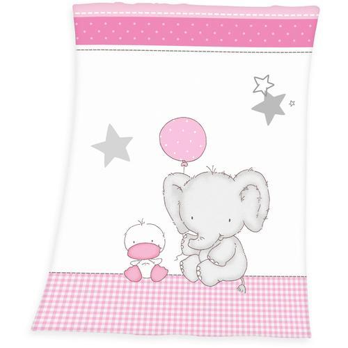 Baby Best Babydecke Fynn Elefant, mit Elefant & Ente weiß Kinder Kinderdecken Decken