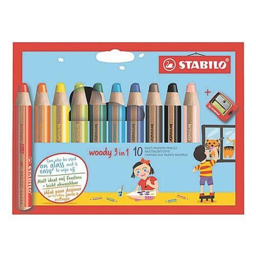 10er-Pack Buntstift »Woody 3 in 1«, Stabilo