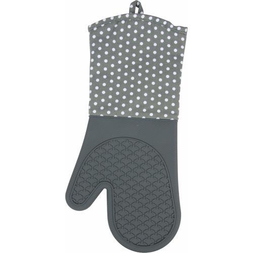 WENKO Topfhandschuhe, (Set, 2 tlg.), aus Silikon grau Topfhandschuhe Topflappen und Topfhandschuh Kochen Backen Haushaltswaren