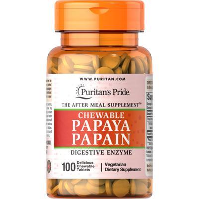 Puritan's Pride Papaya Papain-100 Chewables
