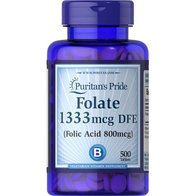 Puritan's Pride Folate 1333 mcg DFE-500 Tablets