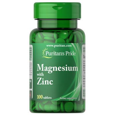Puritan's Pride Magnesium with Zinc-100 Tablets