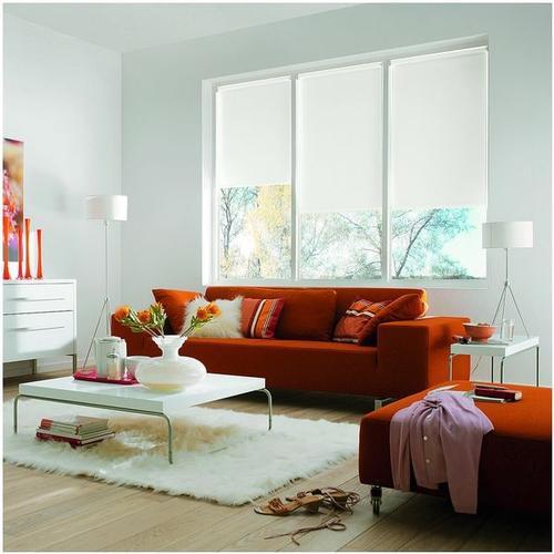 Seitenzug-Rollo mit Lichtschutz weiß, OTTO Office, 82x180 cm