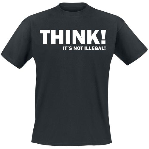 THINK! It`s Not Illegal! Herren-T-Shirt - schwarz