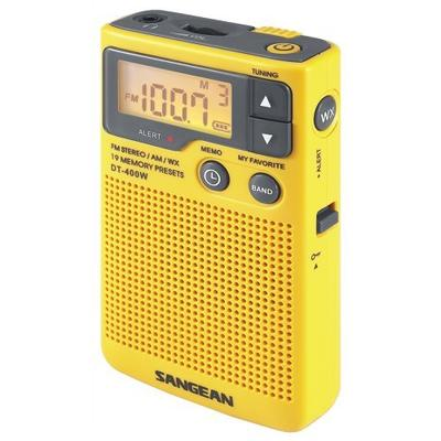 Sangean DT-400W AM/FM Portable Radio - Yellow