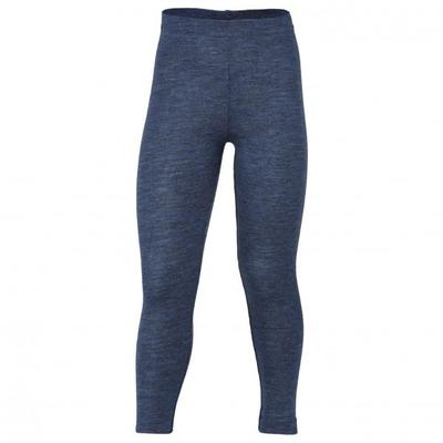Engel - Kinder Leggings Merinowolle - Merinounterwäsche Gr 140 blau