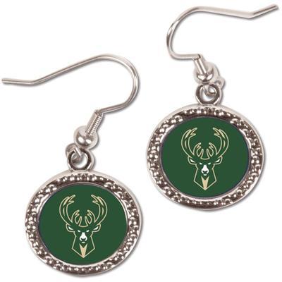 """Women's WinCraft Milwaukee Bucks Round Dangle Earrings"""