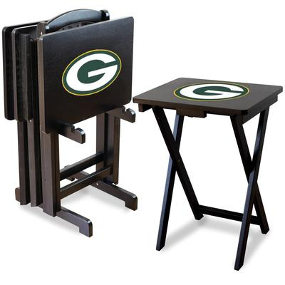 Green Bay Packers TV Trays with Stand