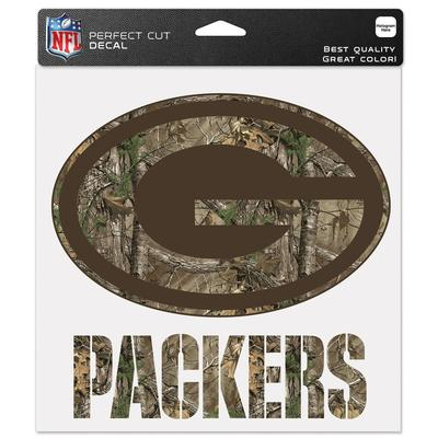 """WinCraft Green Bay Packers 8"""" x Camo Color Decal"""