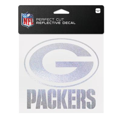 """WinCraft Green Bay Packers 6"""" x Reflective Perfect Cut Decal"""