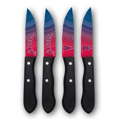Los Angeles Angels Woodrow 4-Piece Stainless Steel Steak Knife Set