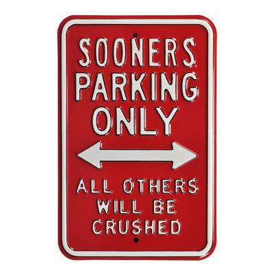 "Oklahoma Sooners 12"" x 18"" College Parking Sign - Crimson"