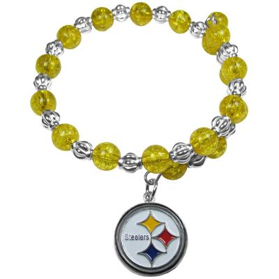 Women's Pittsburgh Steelers 400 Degrees Beaded Bracelet
