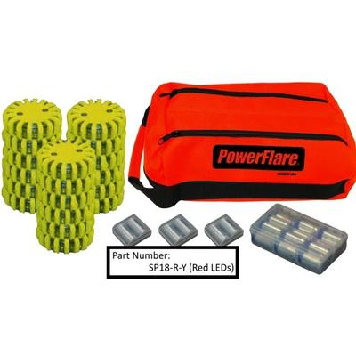 """""""Powerflare Outdoor Gear 18-Pack Soft Pack Magnetic Amber Leds Olive Drab Green Shell"""""""