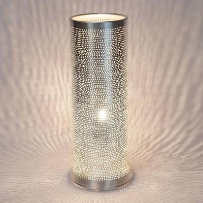 TALLY FILISKY-Lampe à poser Métal Perforé H35cm Argenté Zenza